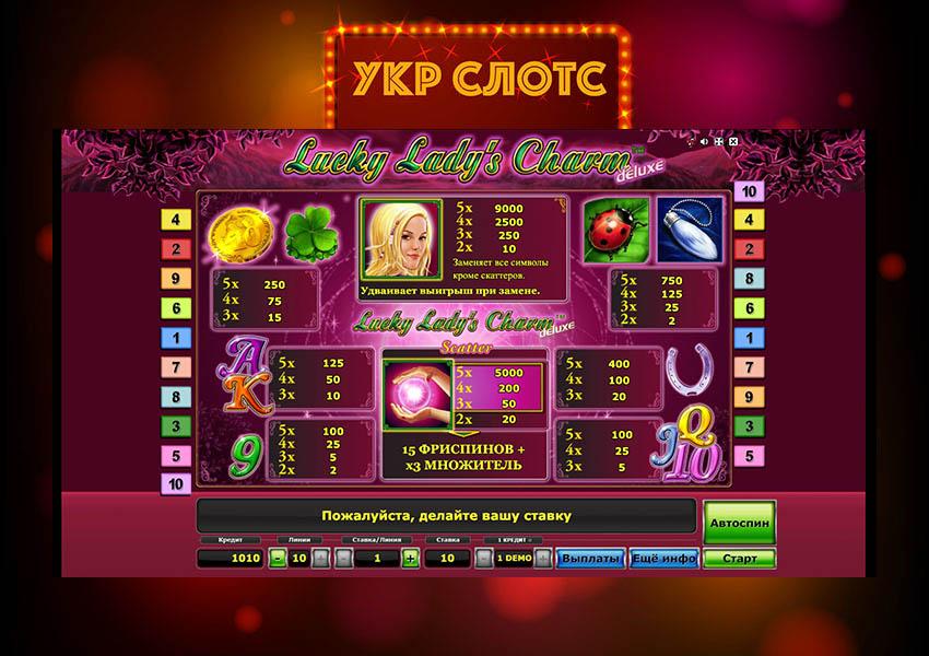 Игровой автомат Лаки лейдис чарм