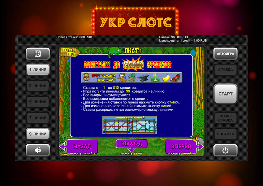 Символика игрового автомата Crazy Monkey