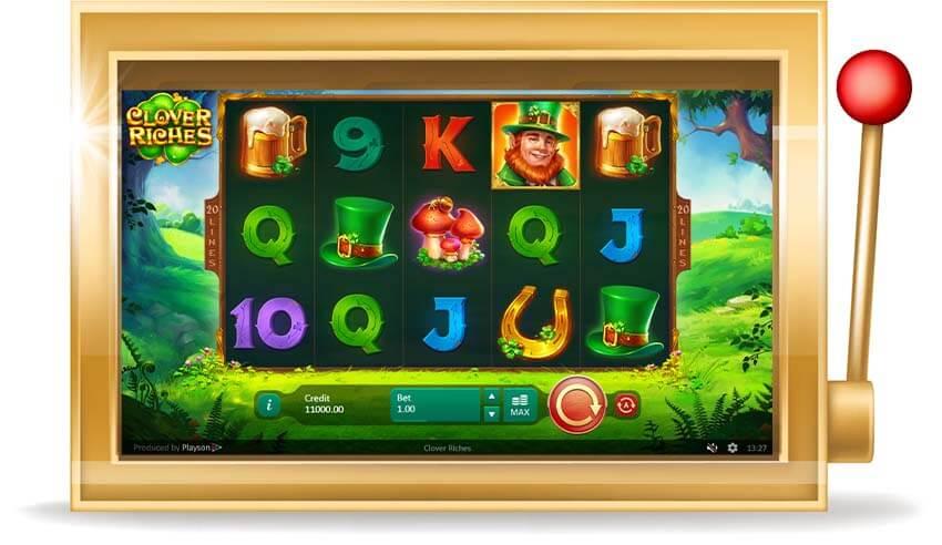 Игровой автомат Clover Riches (Богатство клевера)
