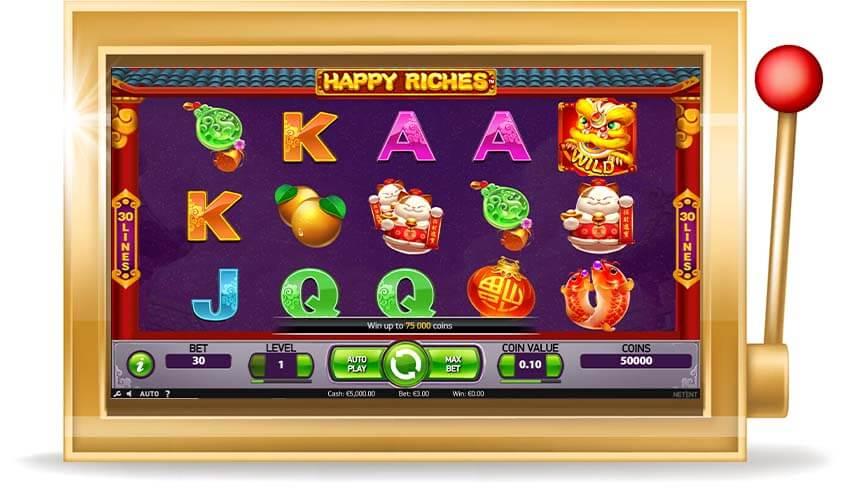 Игровой автомат Happy Riches(Счастливое Богатство)