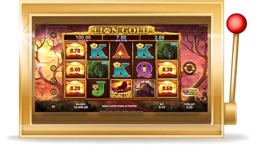 Игровой автомат Lion Gold  (Золотой Лев)