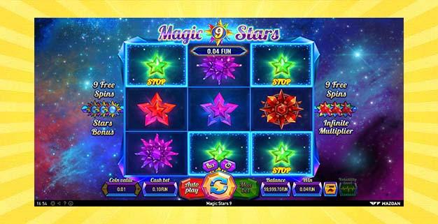 Игровой автомат Магические Звезды 9